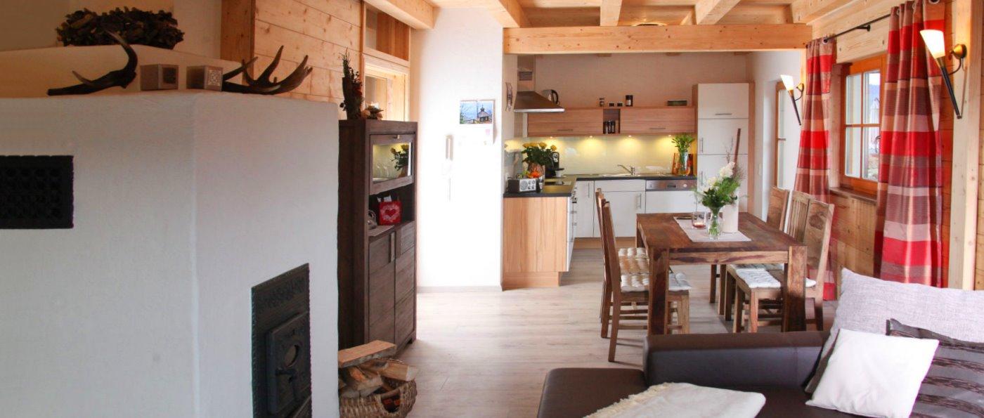 Bayerischer Wald Ferienhaus mit Kaminofen Chalet in Bayern