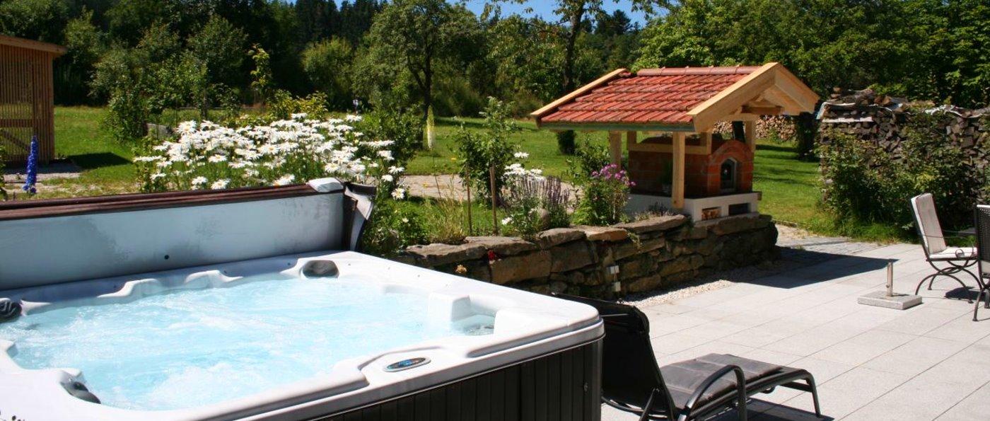 Bayerischer Wald Ferienhaus mit Whirlpool in Bayern