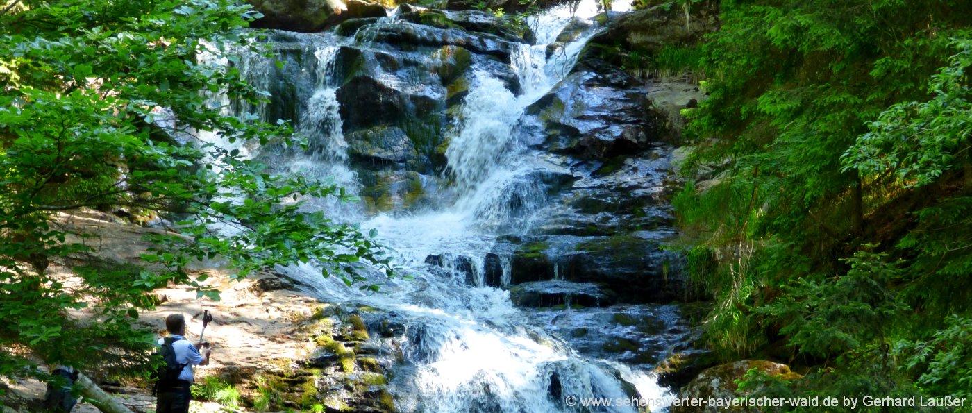 Wanderung auf die Rißloch Wasserfälle bei Bodenmais
