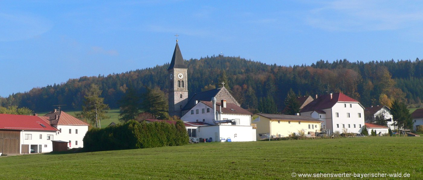wegscheid-friedrichsberg-ansicht-thalberg-kirche-aussichtsturm