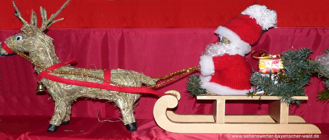 weihnachtsmarkt-bayerischer-wald-christkindlmark-nikolaus-schlitten-rentier