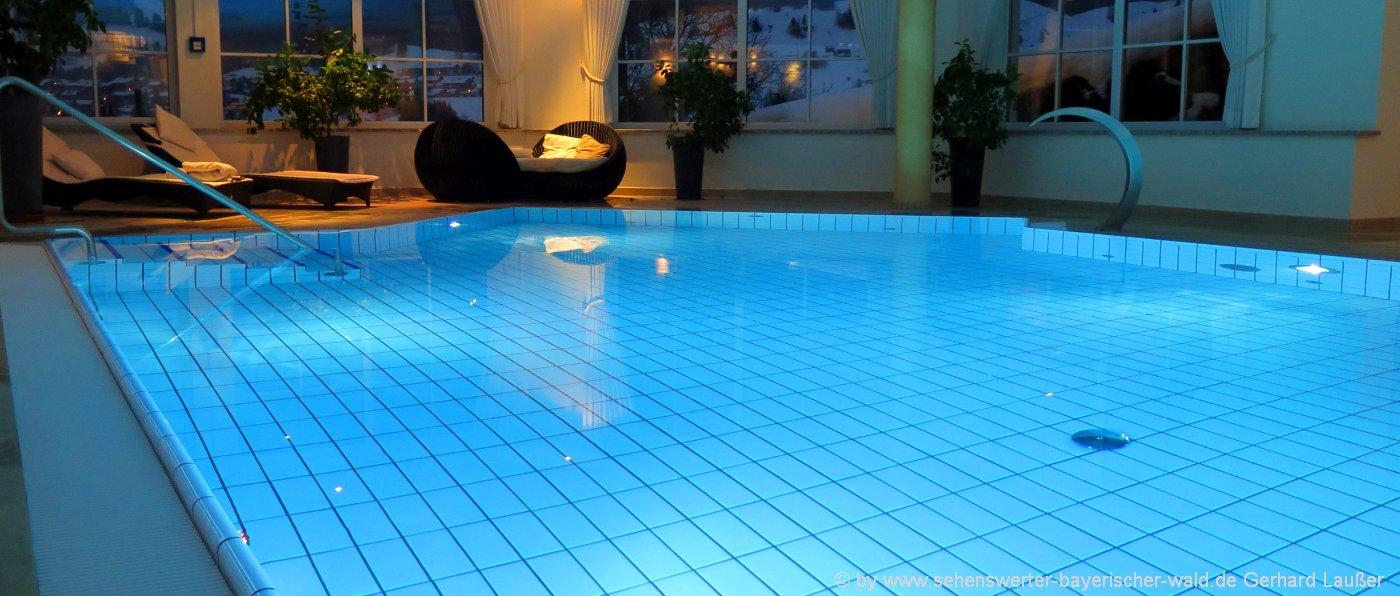 Bayerischer Wald Hotels mit Wellness Schwimmbad und Hallenbad