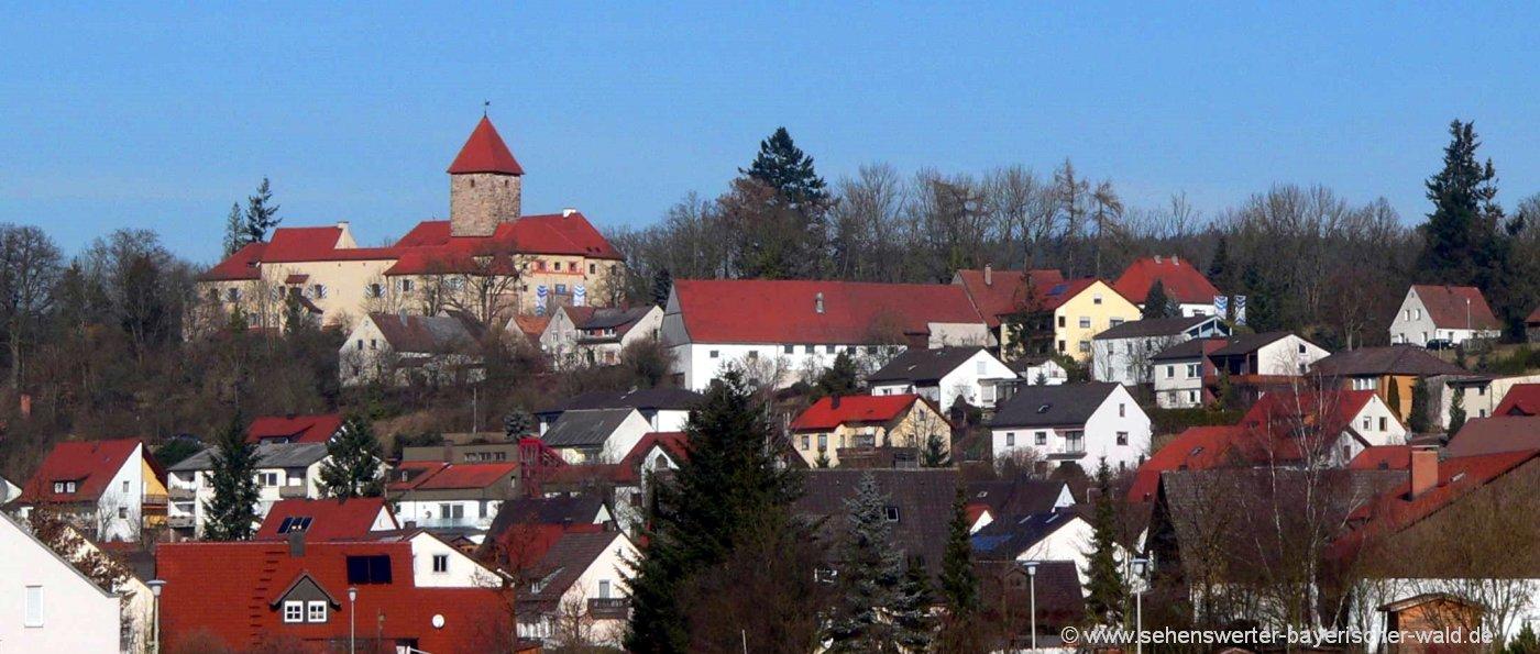 Ausflugsziele bei Wernberg Köblitz Sehenswürdigkeiten Stadtansicht