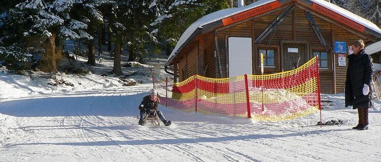 Bayerischer Wald Schlittenfahren und Winter Rodeln bei Riedelberg