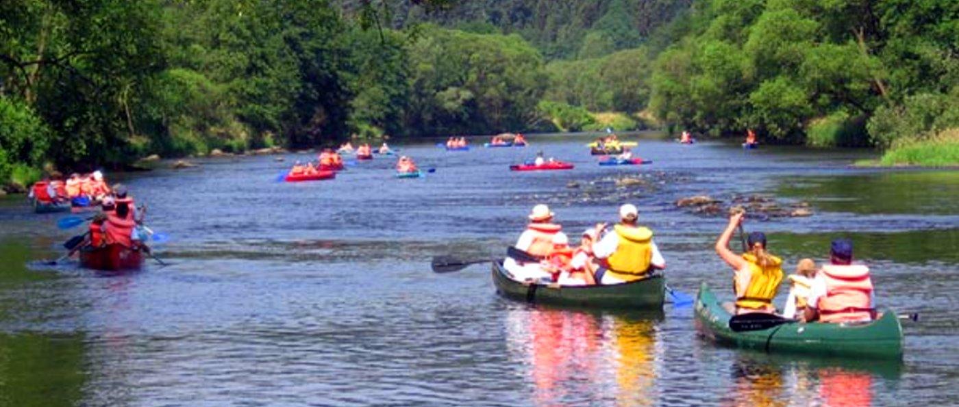 Bootswanderungen am Regen bei Blaibach mit Kanu oder Canadier