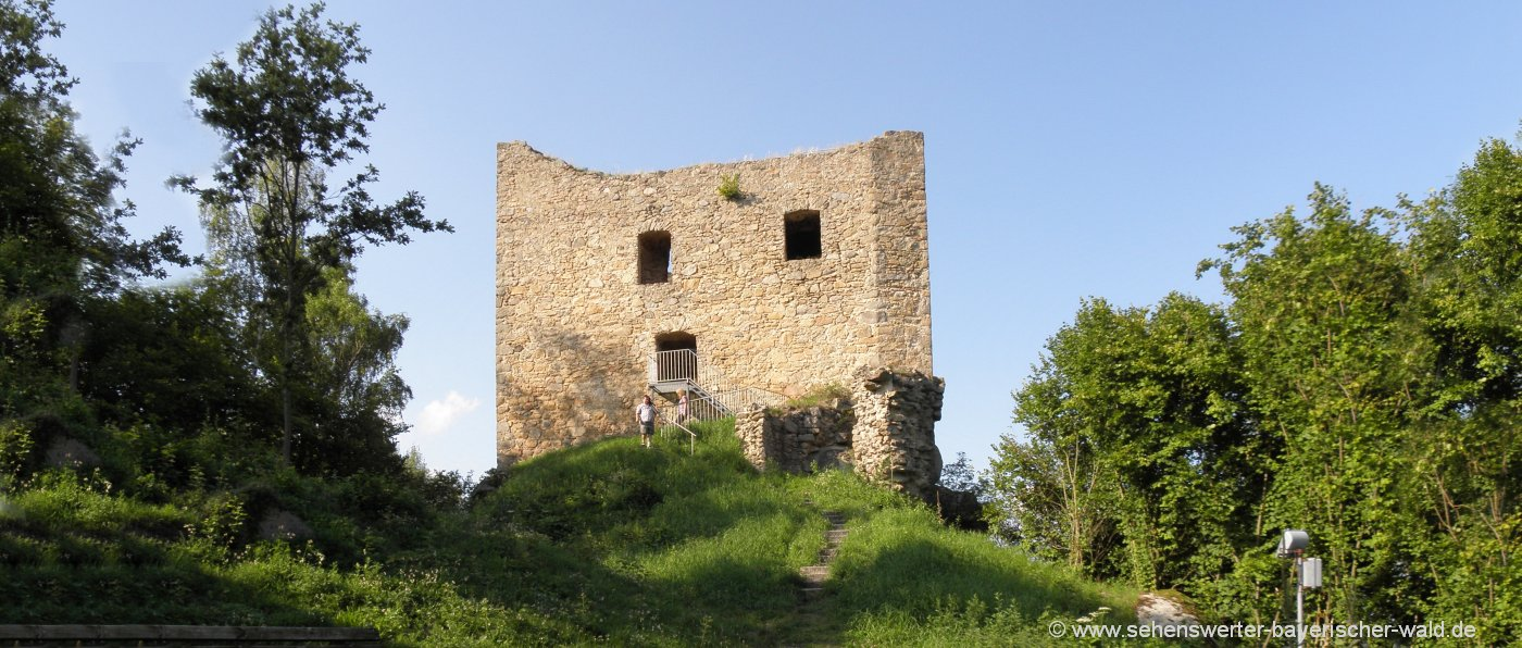 zell-burgruine-lobenstein-ausflugsziel-cham-aussichtspunkt-oberpfalz