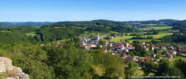 zell-burgruine-lobenstein-aussichtspunkt-oberpfalz-ortschaft