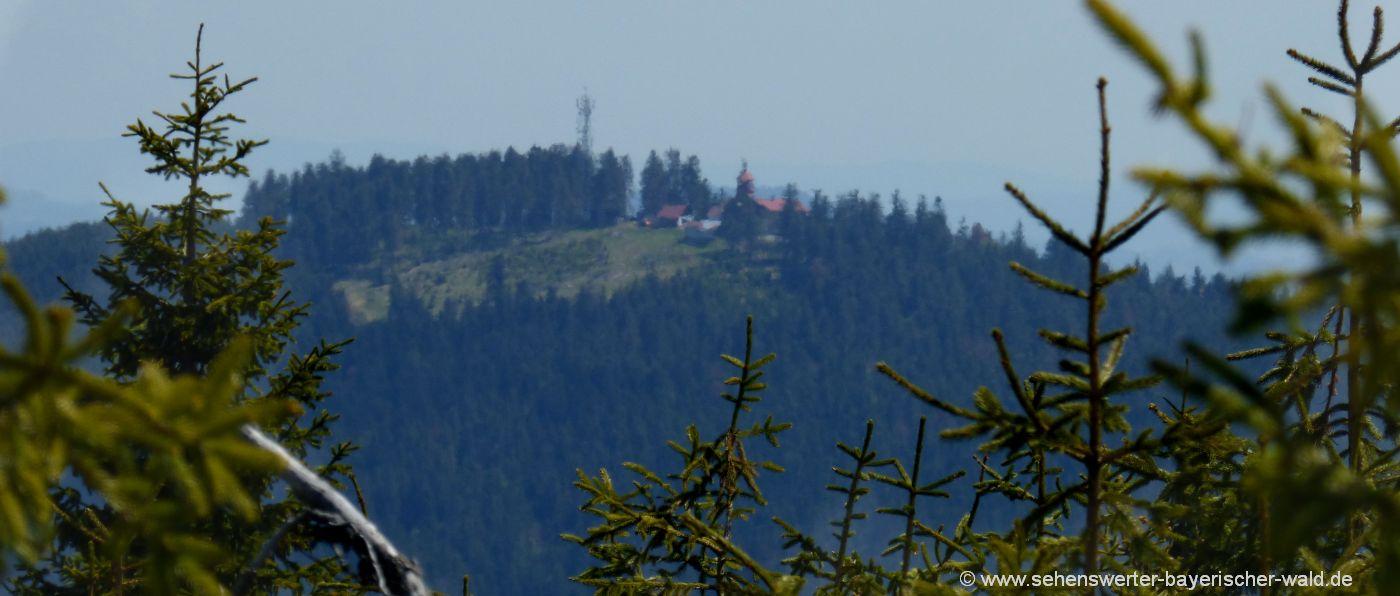 Bild vom Zwercheck - Ausblick zum Spitzberg Aussichtsturm Spicak Tschechien