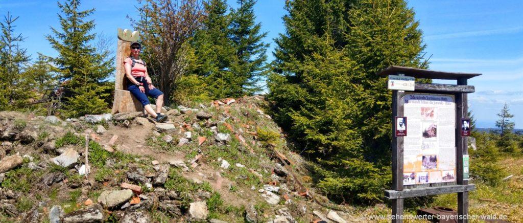 Kammwanderung Zwercheck Osser - Bild Juranek Hütte Ruine