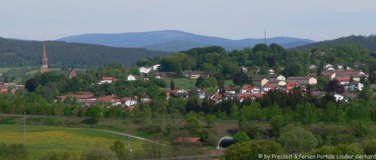 Bauernhofurlaub bei Zwiesel Stadtansicht
