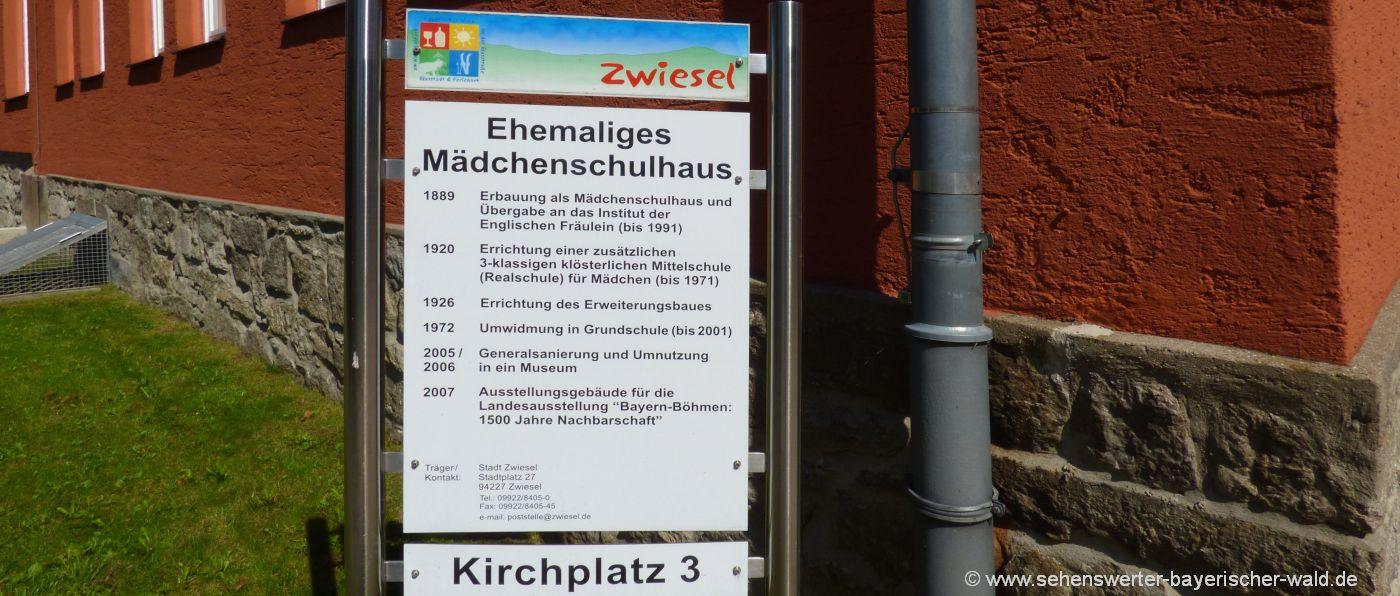 zwiesel-freizeit-waldmuseum-sehenswuerdigkeiten-ehemaliges-mädchenschulhaus