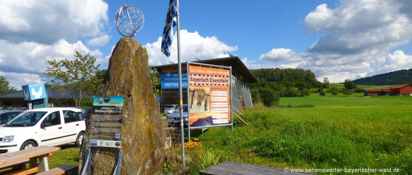 zwiesel-weisswurstäquator-denkmal-infozentrum-naturpark-bayerischer-wald