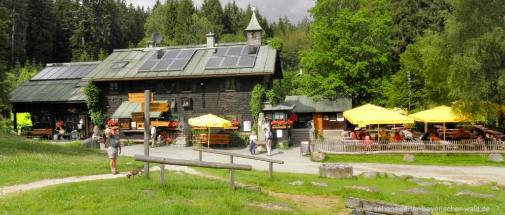 Wandern zum Zwieseler Schwellhäusl Trifter Klause am Schwellsteig