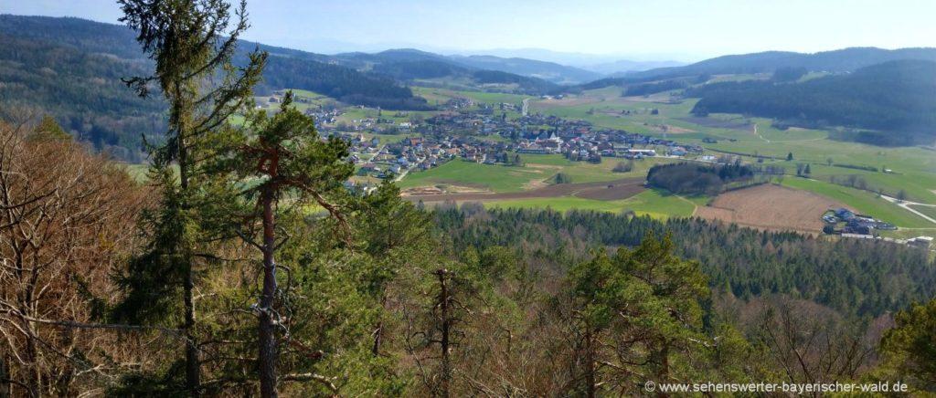 Wanderung zum Aussichtspunkt Zwirenzel Gipfel Blick auf Geigant